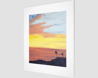 Art Print - Bright Santa Barbara Sunset