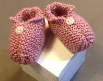 Booties knit newborn handmade unique Creation