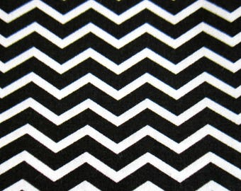 100% cotton fabric, Chevron, black and white, sold by 10 cm by 150 cm
