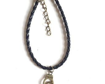 bronze black handcuff bracelet 50 shades of Grey
