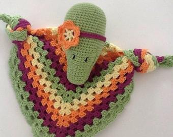 Flat Crocodile crochet blanket
