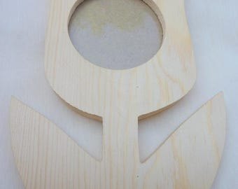 decorate, wooden frame shape tulique