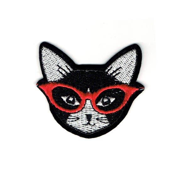 "Patch fusible pattern ""cat"""