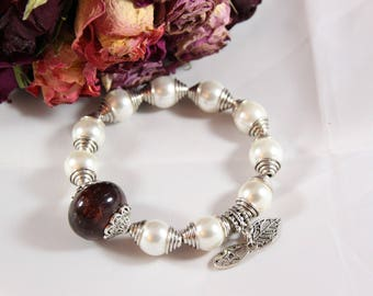 Mallorca pearl bracelet and silver plated