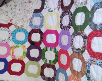 Multi Color Handmade Quilt