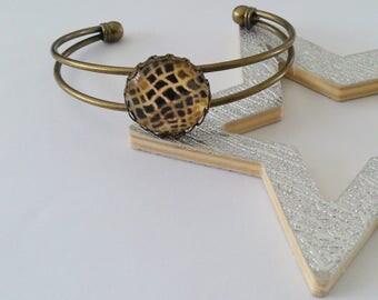 Bronze effect snake bracelet
