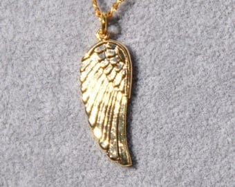 Angel Wing Charm Necklace, Winged Necklace, Angel Wing Necklace, Gift for Her, Mothers Day Gift, Gold Wing Charm, Charm Necklace