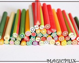 Set of 50 fruit Ideal Creation m2042 Fimo Cane sticks