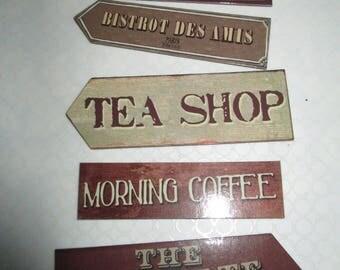 set of 5 magnets vintage kitchen