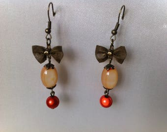 Bronze colored earrings