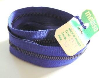Royal Blue zipper 50cm Dmc Metalsa No. 2874 50-70 years