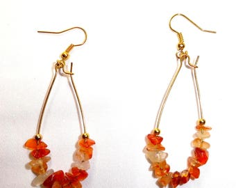Carnelian magnetised sex chakra earrings
