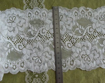 Lace white 13.5 cm wide - 3.50 m