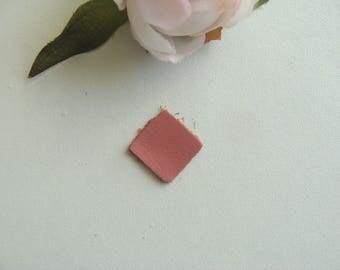 square leather applique pink color