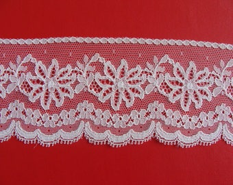 Lace white 6.5 cm wide - 1.90 m