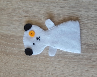 dog model felt finger puppet