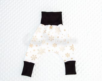 Harem snowflakes white and gold
