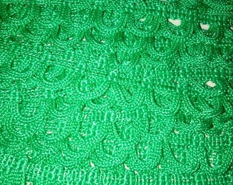 1 meter of trim CROQUET SERPENTINE half moon Green 15 mm width