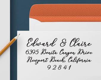 Custom Address Stamp 333 - Return Address Stamp, Self Inking Stamp, Custom Stamp, Personalized Address Stamp, Wedding and Housewarming Gift
