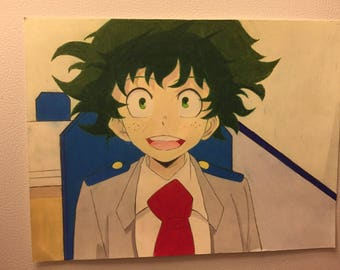 Deku/ Izuku Midoriya from hero academia drawing! 8.25 in by 11 in