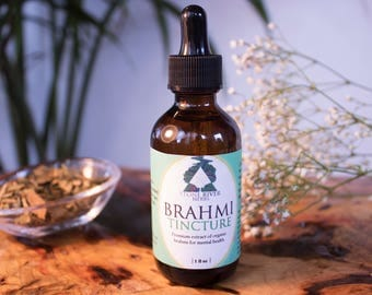 Brahmi Herbal Tincture 2oz - Bacopa monnieri - Premium Extract - Memory - Focus - Concentration