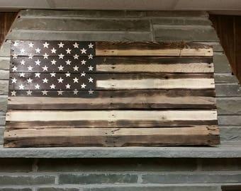 Pallet American Flag, Wood Burned American Flag, wood burned flag, American Flag, Hand Carved, Rustic Flag, Pallet Flag, Rustic Decor