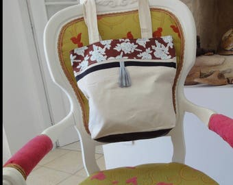 pretty nice canvas tote bag with flowers