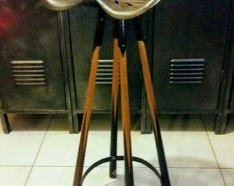 """the snooker"" upcycled bar stool"