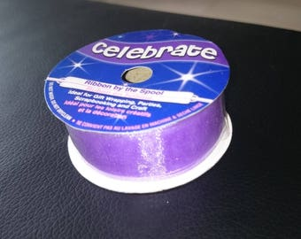 Purple nylon Ribbon 20 mm length 1 meter