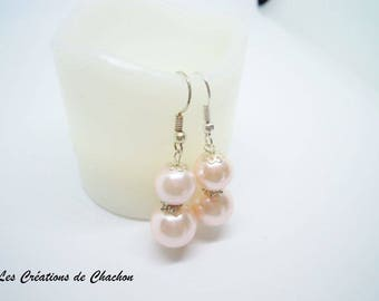 Earrings duo Pearly pink pearls