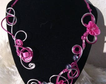 whipping bracelet made of aluminum wire necklace
