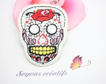 Patch applique fabrics skull Halloween flowers