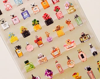 Sticker sticker perfume, perfume, perfume bottle, Scapbooking