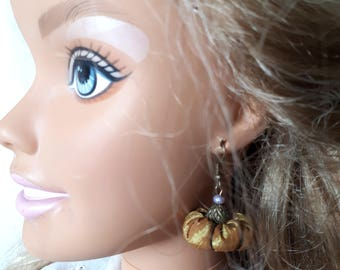 Earrings baroque taffeta