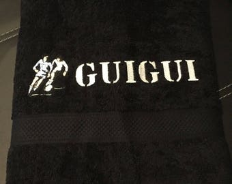 Bath towel 70 x 140 cm with personalized embroidery