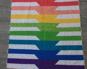 Rainbow Quilt for Baby