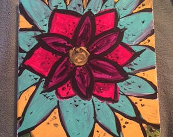 Hand Painted Flower