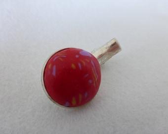 Bohemian red hair clip