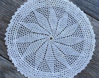 Medium Vintage Handmade Crocheted Doily
