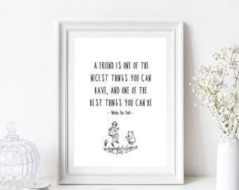 Winnie the Pooh Quote/Nursery Print