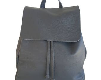 Women's leather backpack size L