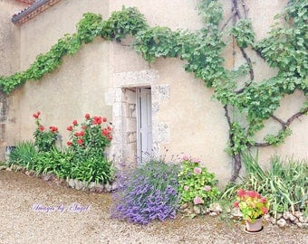French Country Cottage Fine Art Photo JPG Download or Custom Art Print - Printable Fine Art - French Country Home Decor - France Photography