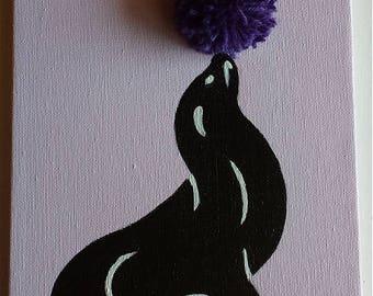 Small seal juggling ball purple