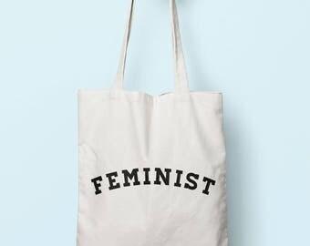 Feminist Tote Bag Long Handles TB1194