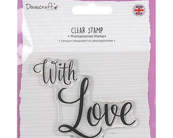 1 MAXI pad happiness love WITH LOVE CLEAR stamp set SCRAPBOOKING 8x6cm