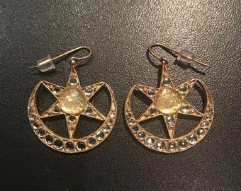 Amber Sami - Salar Jung 'A' Earrings