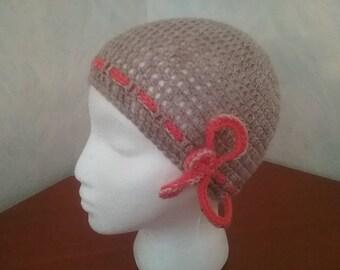 Summer Hat / summer beanie with Schleifenaplikation