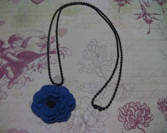 Electric Blue Rose necklace