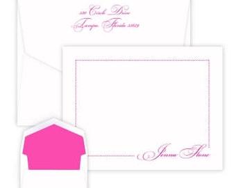 Personalized Manhattan Flat Correspondence Card