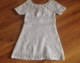 hand crocheted dress/tunic size S